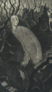 Hugo Steiner-Prag's illustration for Der Golem.