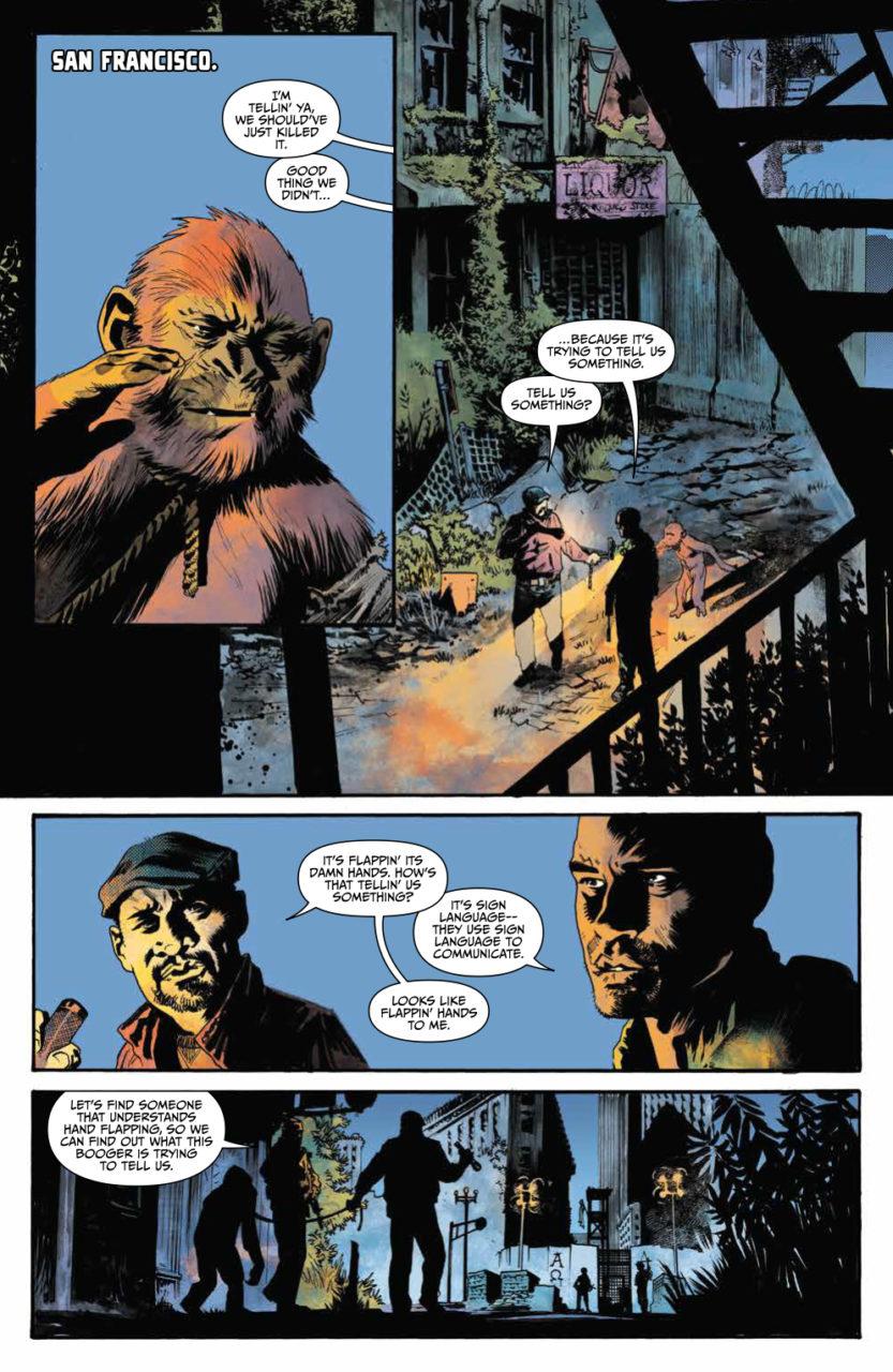 War for the Planet of the Apes #4 Publisher: BOOM! Studios Writer: David F. Walker Artist: Jonas Scharf