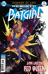 Batgirl #17 - Hope Larson (Writer), Chris Wildgoose (Penciller), Jose Marzan Jr. and Andy Owens (Inkers), Mat Lopes (Colorist), Deron Bennett (Letterer), Dan Mora (Cover) - DC Comics - November 2017