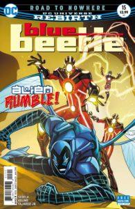 Blue Beetle #15 -Christopher Sebela (Writer), Scott Kolins (Penciller), Tom Derenick (Inker), Romulo Fajardo Jr. (Colorist), Josh Reed (Letterer), Thony Silas (Cover) - DC Comics - November 2017