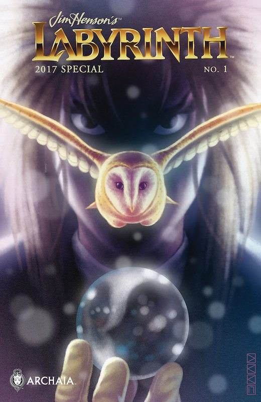 Jim Henson's Labyrinth 2017 Special #1 Publisher: Archaia, an imprint of BOOM! Studios Writers: Adam Smith, Katie Cook, Alessandro Q. Ferrari, Jeff Stokely, Curry Ross, Delilah S. Dawson, Roger Langridge Artists: Jared Cullum, Pius Bak, Sas Milledge, Katie Cook, Jeff Stokely, and Roger Langridge Colorist: Dan Jackson, Heather Breckel Letterer: Jim Campbell, Nathan Pride Cover Artists: Main Cover: Derek Kirk Kim Subscription Cover: Jeff Stokely Variant Cover: Ryan Sook