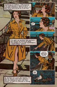 Interior. Minky Woodcock: The Girl Who Handcuffed Houdini #1, Cynthia von Buhler. Titan Comics, 2017.