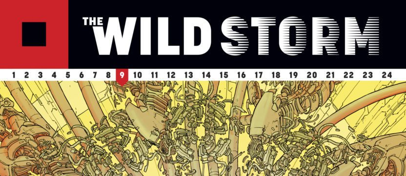 The Wild Storm #9: writen by Warren Ellis, art by Jon Davis-Hunt, color art by Steve Buccellato, letters by Simon Bowland