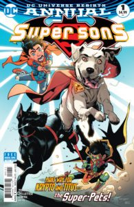Super Sons Annual #1 - Peter J. Tomasi (Writer), Paul Pelletier (Penciller), Cam Smith (Inker), Hi-Fi (Colorist), Carlos M. Mangual and Travis Lanham (Letterers), Jorge Jimenez and Alejandro Sanchez (Cover) - DC Comics - November 2017