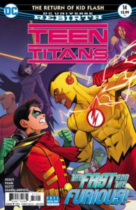 Teen Titans #14 - Benjamin Percy (Writer), Khoi Pham (Penciller), Trevor Scott, Vincente Cifuentes and Norm Rapmund (Inkers), Jim Charalampiois and Blond (Colorists), Corey Breen (Letterer), Dan Mora (Cover) - DC Comics - November 2017