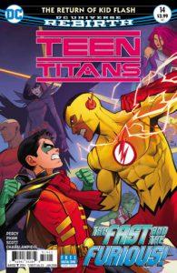 Teen Titans #14 - Benjamin Percy (Writer), Khoi Pham (Penciller), Trevor Scott, Vincente Cifuentes and Norm Rapmund (Inkers), Jim Charalampiois and Blond (Colorists), Corey Breen (Letterer), Dan Mora (Cover) - DC Comics - November 2017