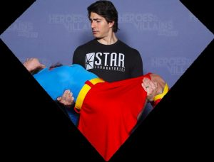 Me in Brandon Routh's Arms