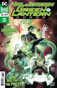 Hal Jordan and the Green Lantern Corps #34 - Robert Vendetti (Writer), Tom Derenick and Jack Herbert(Artists), Jason Wright (Colorist), Dave Sharpe (Letterer), Francis Manapul (Cover) - DC Comics - December 2017