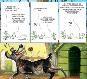 Little Tails on the Farm, page featuring the farm's working dog