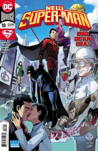 New Super-Man #18 - Gene Luen Yang (Writer), Brent Peeples (Penciller), Scott Hanna and Richard Friend (Inkers), Hi-Fi (Colorist), Dave Sharpe (Letterer) - DC Comics - December 2017