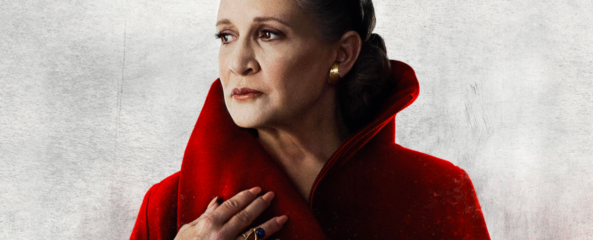 Carrie Fisher in Star Wars: The Last Jedi character poster, 2017