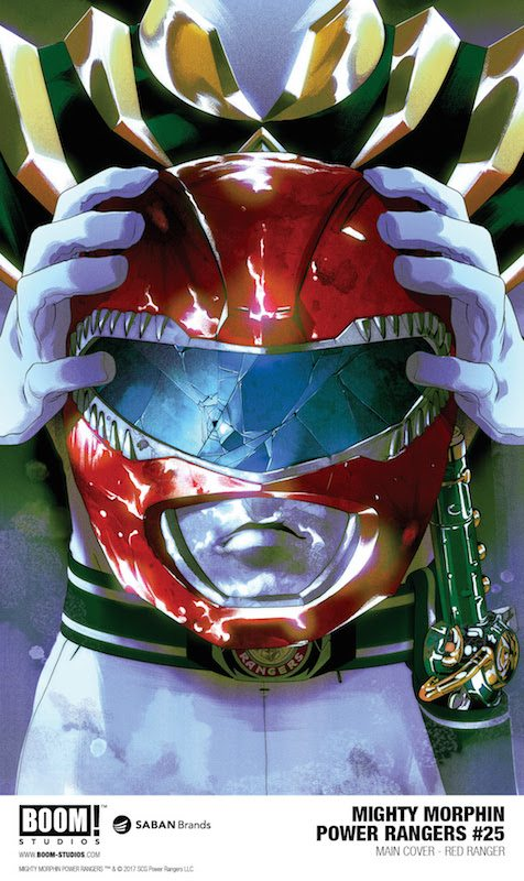 Mighty Morphin Power Rangers #25 main cover by Goñi Montes