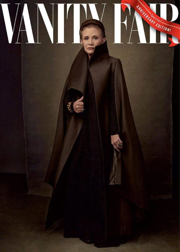 Carrie Fisher in Vanity Fair, May 2017, Annie Liebowitz