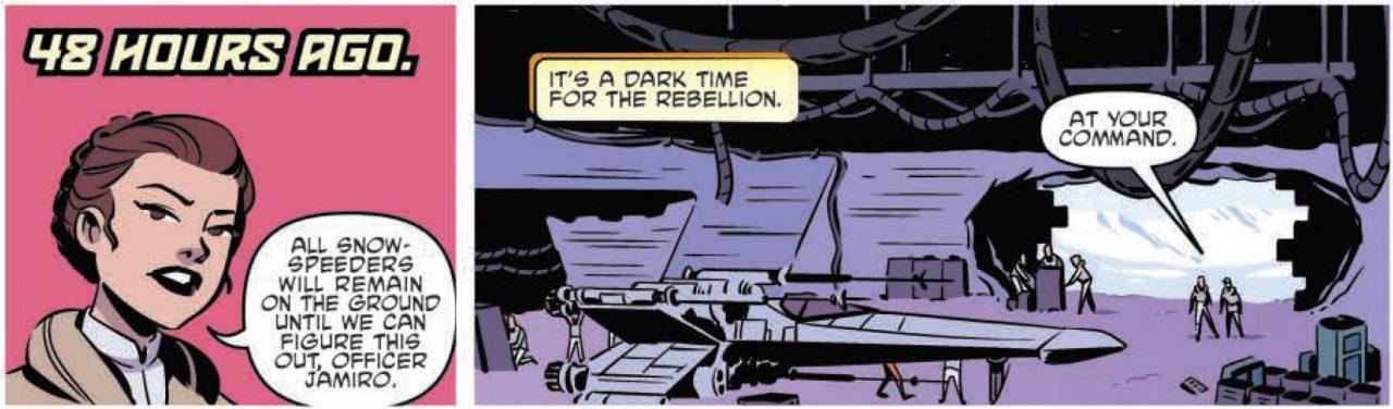 Forces of Destiny Leia comic panels