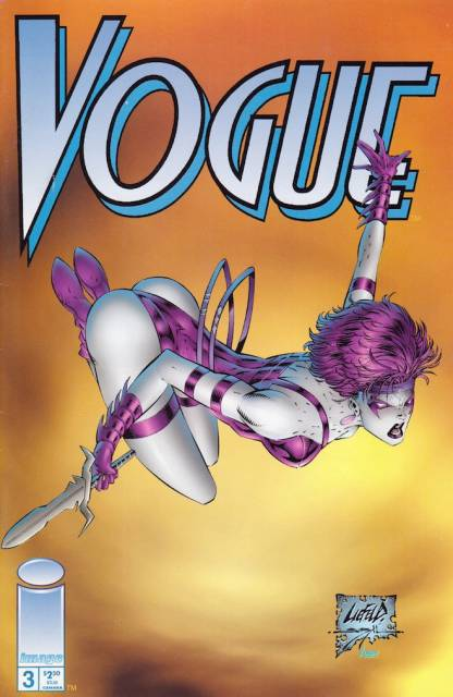 Vogue #3 cover, Extreme Studios, Image, 1993, Rob Liefeld