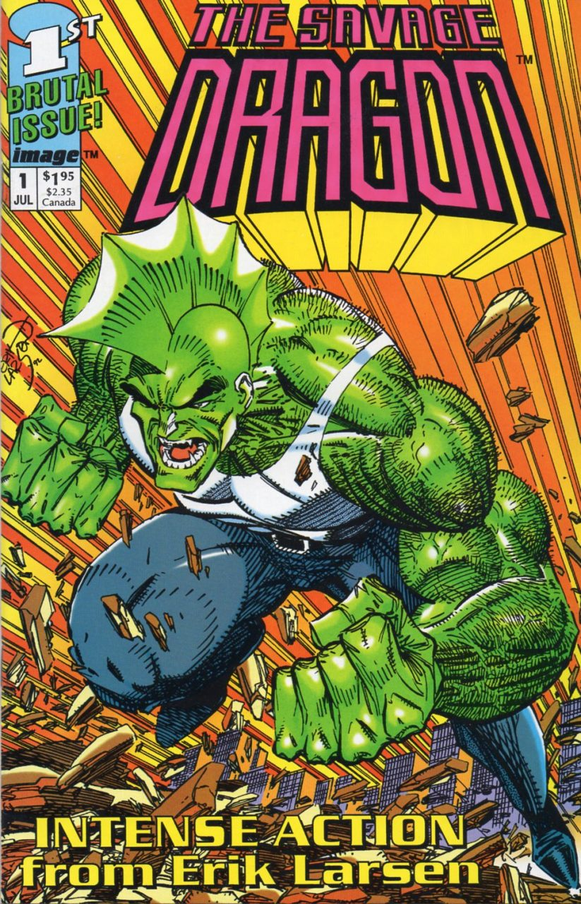 Savage Dragon #1, Erik Larsen, Image via Malibu, 1992