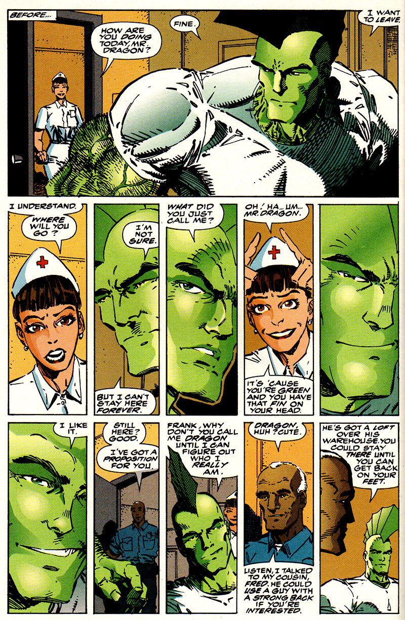 Savage Dragon #2, Erik Larsen, Image via Malibu, 1992