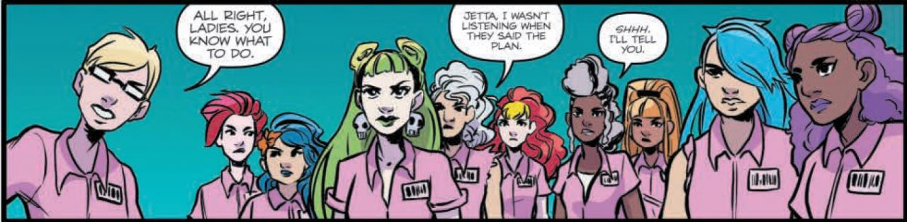 Jem and the Holograms: Infinite Vol 1-5 Page 106 panel Art by Jen Hickman