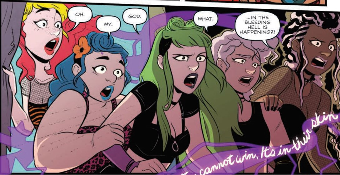 Jem and the Holograms: Infinite Vol 1-5 Page 79 panel Art by Jenn St-Onge