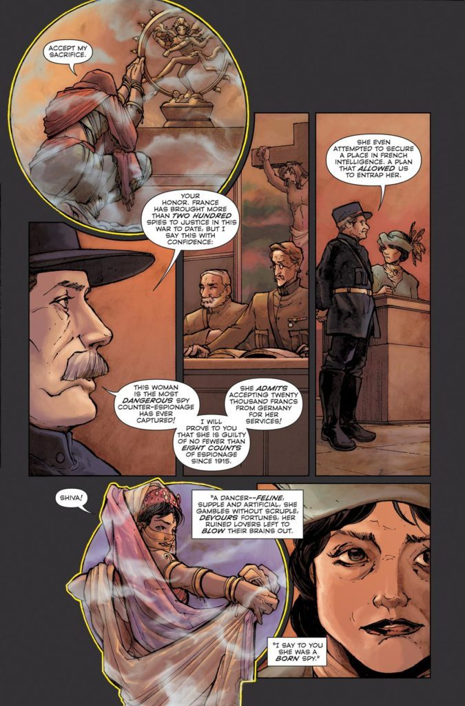 Mata Hari #1: written by Emma Beeby, art by Ariela Kristantina, colors by Pat Masioni