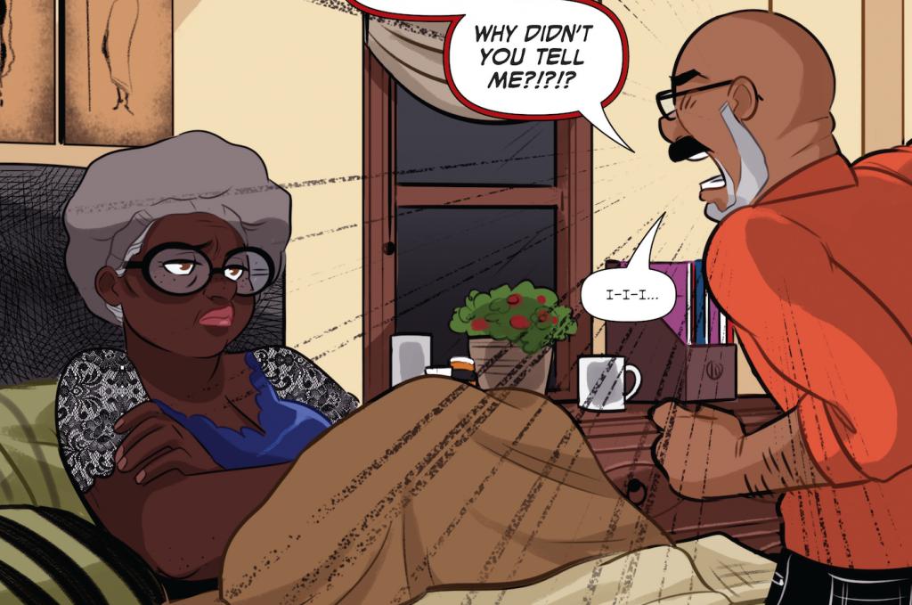 Hazel endures a rant. Bingo Love, Image Comics, Feb. 14, 2018. Writer: Tee Franklin; Artist: Jenn St-Onge; Colorist: Joy San; Letterer: Cardinal Rae