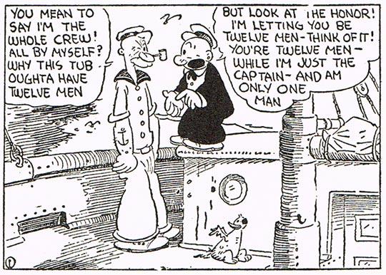 E C Segar, Popeye, King Features