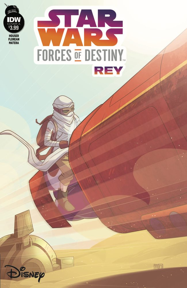 Star Wars Force of Destiny 2 Rey IDW Publishing Cover A