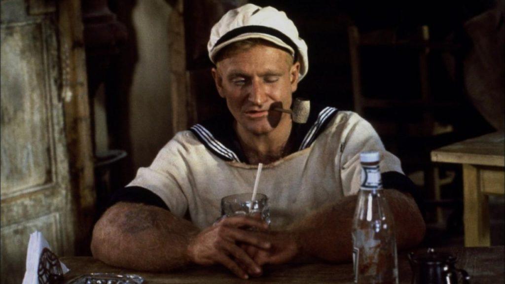 Robin Williams in Robert Altman's Popeye, 1980