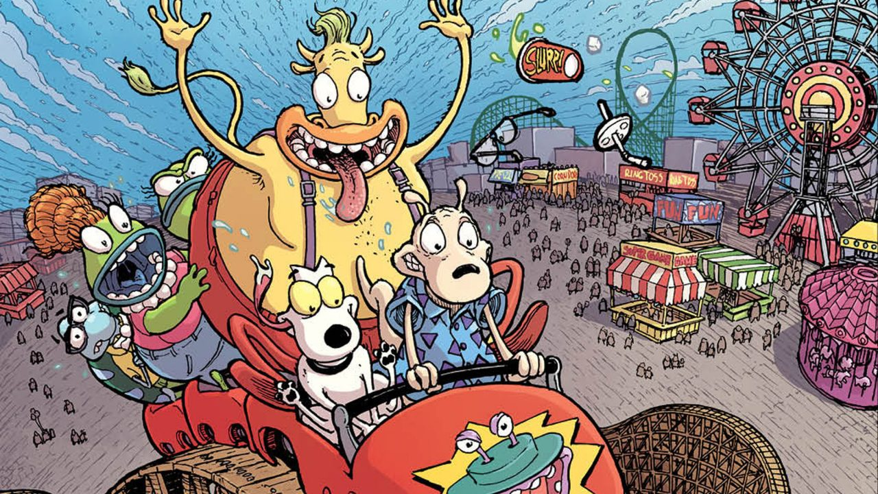 "A detail of a variant cover for ""Rocko's Modern Life"" No. 1 by Nick Pitarra"
