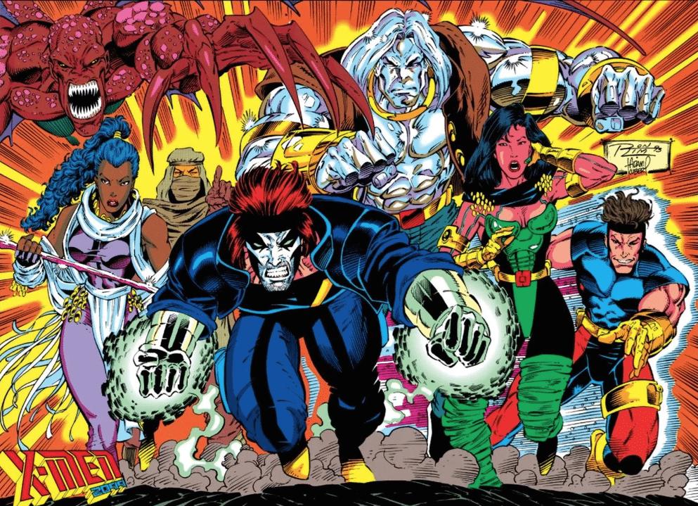 X-Men 2099 promotional spread, Ron Lim Adam Kubert, Marvel Comics 1993