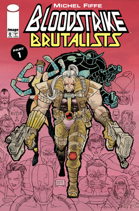 Michael Fiffe's Bloodstrike: Brutalists, after Rob Liefeld, for Image Comics 2018