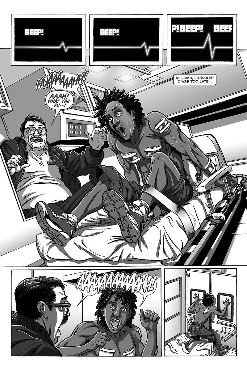 BLACK Page 5 Kwanza Osajyefo (Writer), Jamal Igle (Artist) Publisher: Black Mask Studios