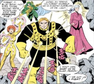 Fearsome-Five - Tales of the Teen Titans #56 - August 1985 - Marv Wolfman (Writer), Chuck Patton (Penciller), Mike DeCarlo (Inker), Albert Deguzman (Letters), Adrienne Roy (Colors)