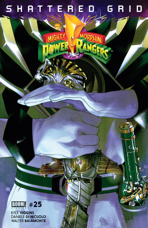 "Mighty Morphin Power Rangers #25 Publisher: BOOM! Studios Price: $4.99 Writer: Kyle Higgins Artist: Daniele Di Nicuolo Colorist: Walter Baiamonte Letterer: Ed Dukeshire Cover Artists: Polybag: Deron Bennett Main Cover Intermix Covers A-G: Goñi Montes Subscription Cover H: Jordan Gibson Incentive Cover I: Scott Koblish ""Match To"" Unlockable Cover J: Humberto Ramos ""One Per Store"" Unlockable Cover K: Goñi Montes"