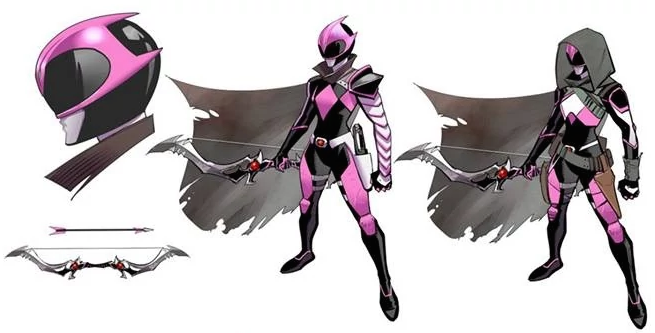 Dan Mora's Ranger Slayer design for Saban and BOOM! Studios's Go Go Power Rangers