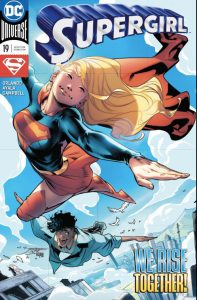 Supergirl #19 - Steve Orlando and Vita Ayala (Writers), Jamal Campbell (Artist), Carlos M. Mangual (Letterer) Jorge Jimenez with Alejandro Sanchez (Cover) DC Comics March 14, 2018