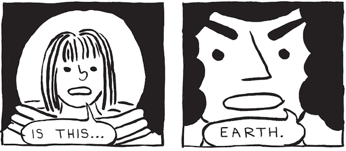 Panels from XTC69 by Jessica Campbell via Koyama Press