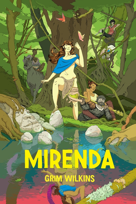 Mirenda collection cover, Grim Wilkins, 2018