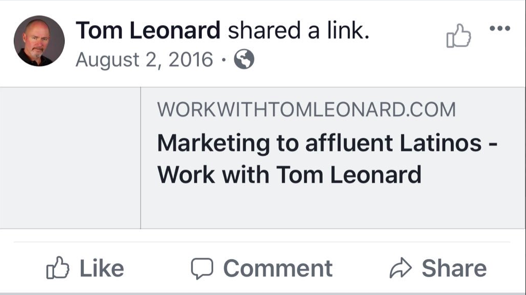 Tom Leonard facebook ads