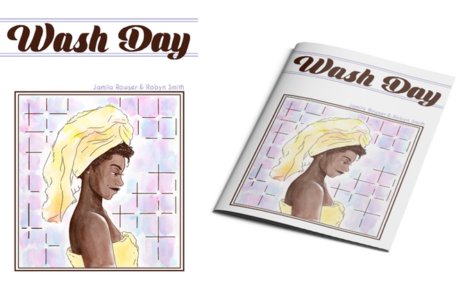 Wash Day cover and mockup. Robyn Smith, 2018