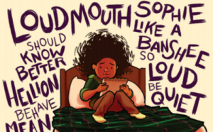 Sophie, huddled on her bed, surrounded by her grandmother's hurtful words
