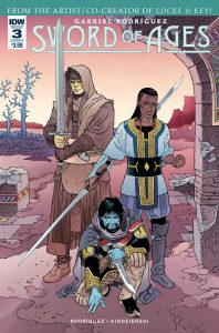 Sword of Ages #3 cover A by Gabriel Rodriguez. Published by IDW Publishing. April 11, 2018