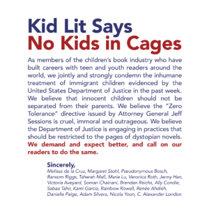 Kid Lit Says No Kids in Cages