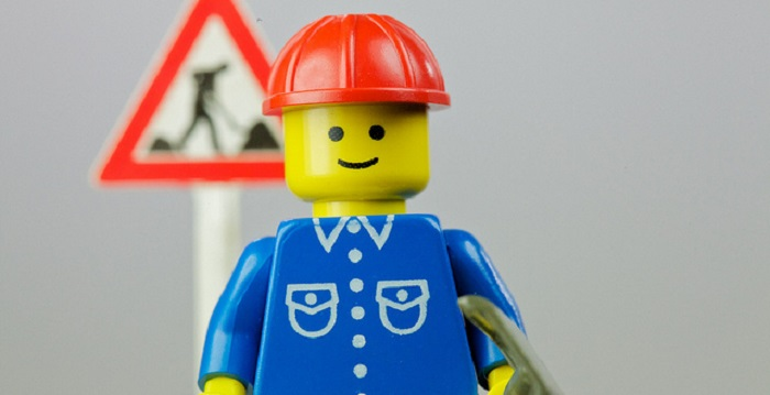 LEGO Construction Worker by Jeff Eaton via Flickr
