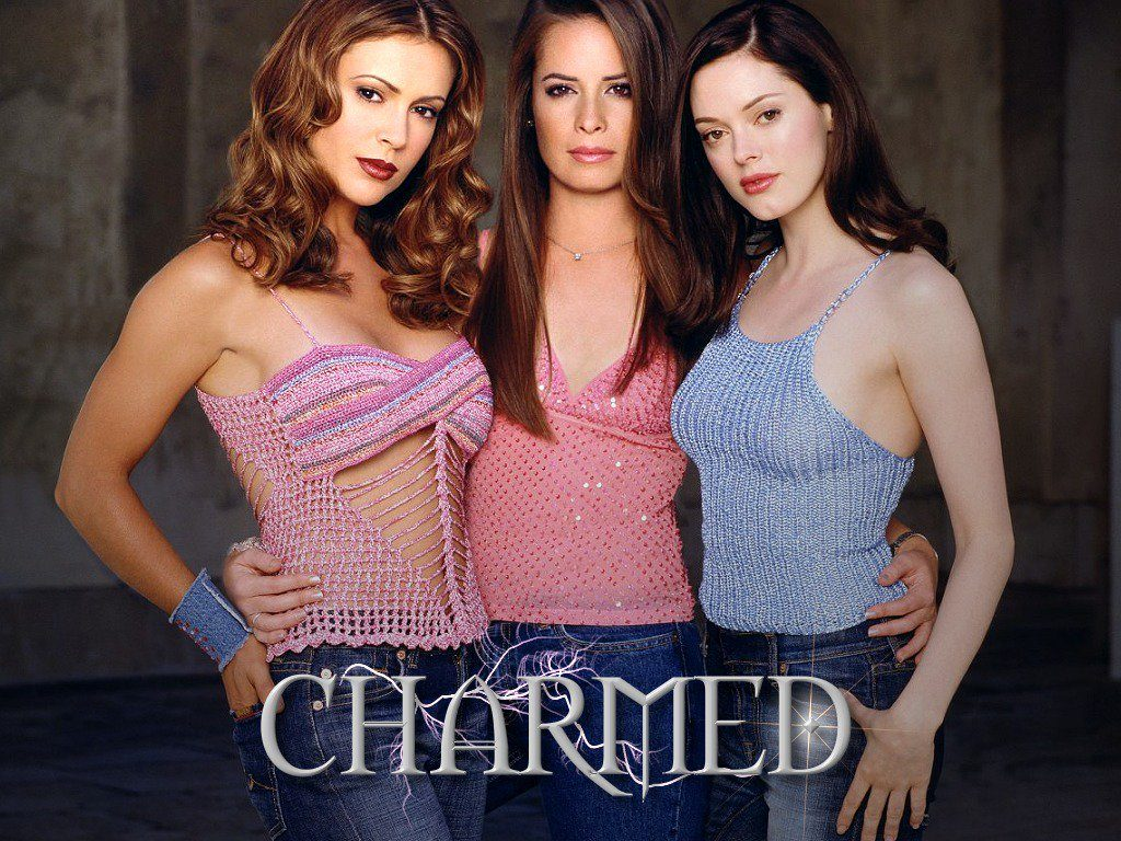 Charmed, created by Constance M. Burge for the WB. Alyssa Milano, Holly Marie Combs, Rose McGowan