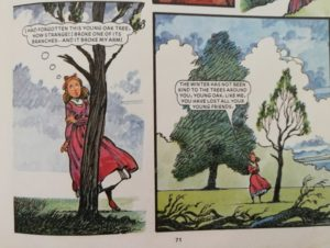 The Oak Tree, author unknown, Bunty for Girls 1985 annual, D.C. Thompson & Co. Ltd. 1984