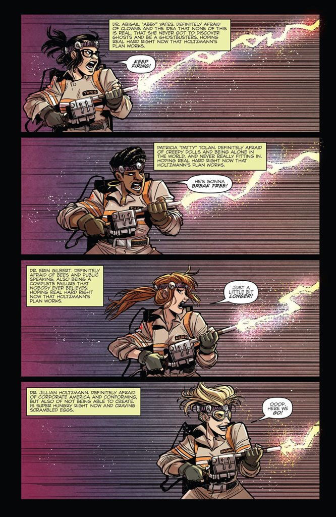 Ghostbusters Answer the Call 5 Page 5. Written by Kelly Thompson. Drawn by Corin Howell. Pub: IDW Publishing. 9 May 2018