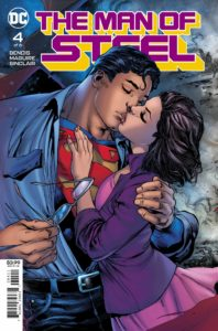 Superman kissing Lois Lane