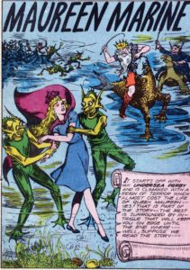 Maureen Marine, vintage comic cover