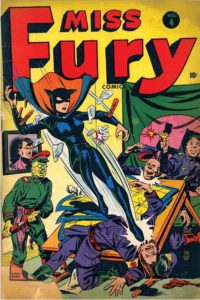 Miss Fury, vintage comic cover.